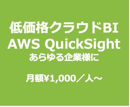 BIビジネスインテリジェンスシステム 弊社は日本でも数少ないAmazon QuickSightのテクノロジーパートナー企業です。